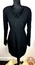 NWT Witchery sz 10/12 black snake textured women dress work career wedding basic