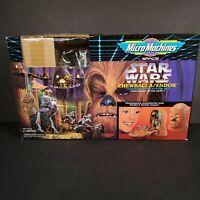 Star Wars: Chewbacca/Endor Transforming Action Set Galoob Micro Machines NO FIGS