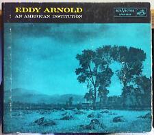 "10"" RCA 1955 1s/1s EDDY ARNOLD an american institution LP VG+ LPMX-3230 w/Book"