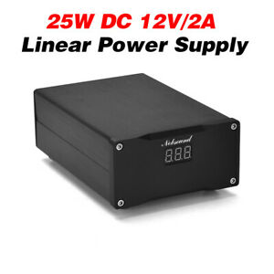 25W Dual DC 12V Regulated Linear Power Supply for Audio DAC Digital Interface