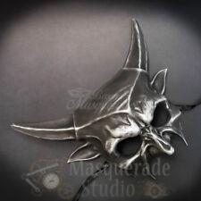 Devil Horns Satanic Demon God Costume Prop Halloween Masquerade Mask [Silver]