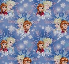Fat Quarter Disney Frozen Sisters Winter Magic 100% Cotton Quilting Fabric