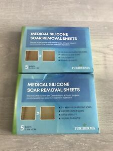 Puriderma Medical Silicone Scar Removal 2 Pack Sheets 5Sheets Eachexp 10-14-2022