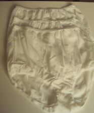 Three Dixie Belle Lingerie Nylon Briefs Size 8 White Style 719