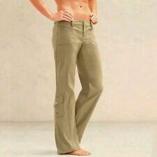 Athleta Womens Dipper Utility Pants Size 4 Petite Tan Khaki Hiking Cargo Pocket