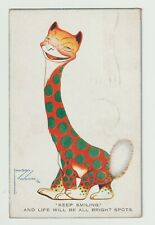 Postcard - Lawson Wood - Keep Smiling and Life Will be all Bright Spots - c1925