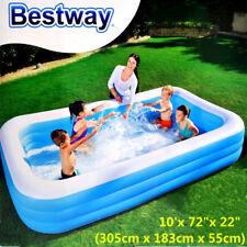 Bestway Inflatable Kids Family Swimming Pool Rectangular 305cm #54009