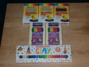 Sargent Art 5 Pounds Modeling Clay Non Toxic Non Hardening , Brand New
