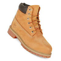 Timberland 6 Inch Junior Premium Boot wheat nubuk Damen Kinder Stiefel 12909