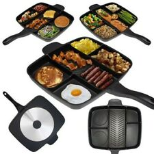 Frying Pan Non-Stick 5 in 1 Divided Fry Fryer Square Cookware Deep Grill Toaster