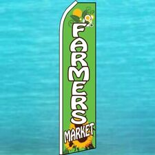 Farmers Market Flutter Flag Tall Curved Advertising Swooper Feather Banner Sign