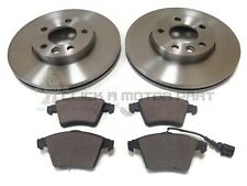 VW TRANSPORTER T5 2.0 TDi FRONT 2 BRAKE DISCS AND PADS (CHECK DISC SIZE 308MM)