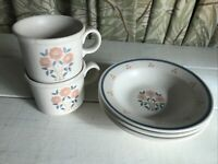 Royal China OHIO Vintage PEACH TREE 2 Cup Mug 3 Bowls