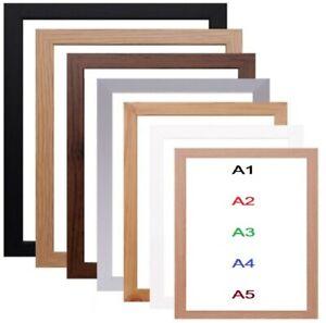 A1 A2 A3 A4 A5 A6 Black Photo Frame White Picture Frame Poster Frames Oak Silver
