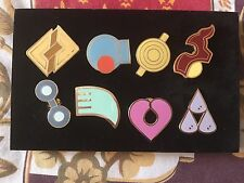 ALL 8 Of Pokemon Hoenn Gym Badges Metal Pins from Gen 3 Great quality US Seller