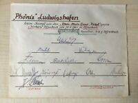 12 Autogramme PHÖNIX LUDWIGSHAFEN 50/51-Südwest/TuRa-Fusion-Geschichte-RARITÄT!!