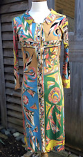 Rare Vintage 60s Emilio Pucci Pure Silk Jersey Multicolour Panel Design Dress 8