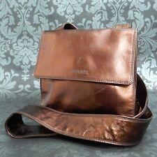 Rise-on Vintage CHANEL Metallic Leather Bronze Crossbody Shoulder Bag #2170