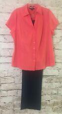 Womens Mix Lots Top Style &Co Sz 18w Orange ..pants Zac & Rachel 18w Navy