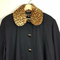 [ SUNNY CHOI Vintage ] Womens Wool Coat / Jacket | Size AU 18 - 20 or US 14 - 16
