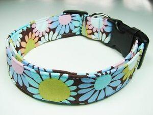 Charming Blueberry Delight Flowers Adjustable Standard Dog Collar