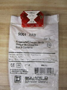 Square D 9001-KA3 Contact Block 9001KA3 Red-Series K (Pack of 6)
