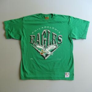 Vtg 1990s Kelly Green Eagles T Shirt Philadelphia 1994 Old Logo XL