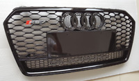 A7 Front Grill Mesh Grille for Audi A7 & S7 2016-18 To RS7 Style Full Black