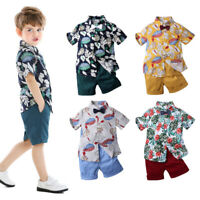 Toddler Infant Baby Boys Set Cartoon T-shirt Tops+Shorts Summer Clothes Outfits
