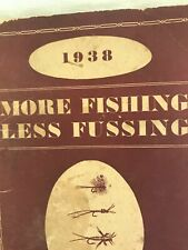 New listing Rare Vintage 1938 Paul H. Young Fly Rod & Fine Fishing Tackle Catalog 5.5 x 9 in
