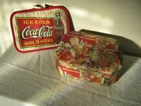 Vintage Coca-Cola Collectible Tin Box Sandra Ethridge Porter bonus Pot Holder