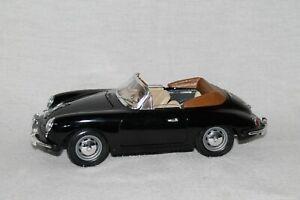 Bburago 1961 PORSCHE 356 B CONVERTIBLE ~ Black 1:18 Scale ~ Made In Italy