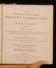 1802 Gentleman & Farmer's POCKET COMPANION Ainslie 1st