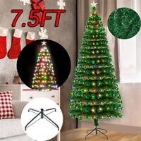 7.5FT Christmas Tree with 260 LED Lamps & 260 Branches Stand In/outdoor Holiday
