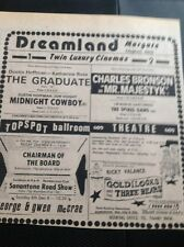 67-3 Ephemera 1974 Dreamland Margate Advert Chairman Of The Board G McRae
