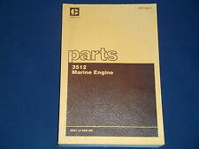 CAT CATERPILLAR 3512 MARINE ENGINE PARTS BOOK MANUAL S/N 66Z1-189