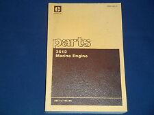 CAT CATERPILLAR 3512 MARINE ENGINE PARTS BOOK MANUAL S/N 66Z1-189