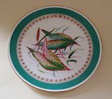 Minton green rim vintage pre Victorian antique hand painted botanical plate