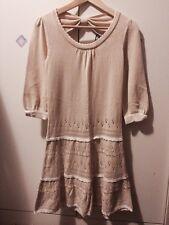 Feroux Beige Knit Dress Size 10