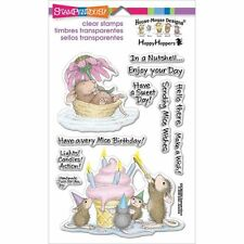 Stampendous Clear Stamps - House Mouse Mice Wishes - Birthday Cupcake Candles