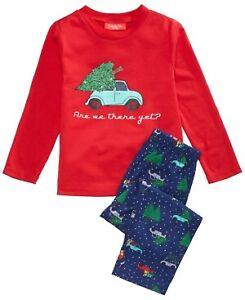 Family Pajamas Are We There Yet Pajama Set Red 10-12(M/L)