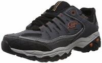 Skechers Mens Memory Fit 50125 Low Top Lace Up Running, Charcoal, Size 12.0 NLIM