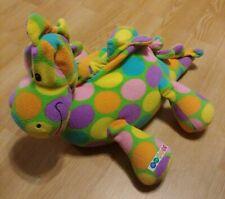"BeePosh Colorful Dinosaur Dino Stegosaurus Plush Stuffed Animal 22"" MINT EUC"