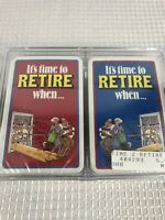 Vintage Retirement Playing Cards 1990s Cartoon Comedy (2) Decks New Sealed Fun