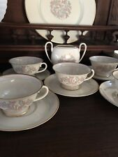 5 FRANCISCAN POTTERY ROSSMORE Cups and saucers, Mint