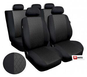 Universal Seat covers full set fits  Vauxhall Corsa black/grey