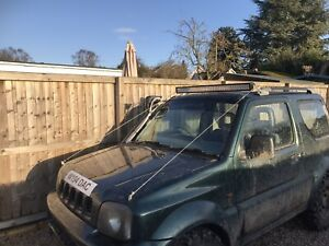 "Suzuki Jimny LED Light Bar Brackets 42"" LED Bush Wires Brush Cable roof screen"