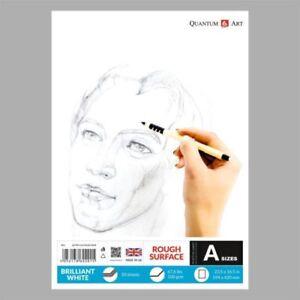Blocco da Disegno Resistente Bianco Disegno Artista Carta Gommata Libro 50 Fogli