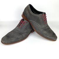 Cole Haan - Colton Men's Gray Suede Wingtip Oxfords C09579 - Size 9.5M