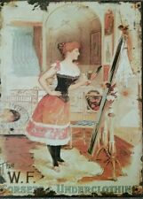 Fabulous Victorian Vintage Style Metal Sign, The W.F.  Corsets & Underclothing.